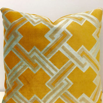 Yellow Velvet Pillow Cover, Pillows, Yellow Pillows, Yellow Decorative Pillow Cover, Yellow Velvet Cushion Cover, Velvet Throw Pillow Covers