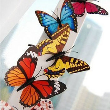 10Pcs 3D Butterfly Fridge Magnets Room Wall Decorations
