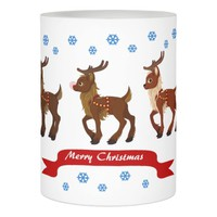 Reindeer and Snowflakes Flameless Candle