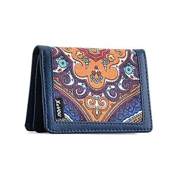 XeYOU Minimalist Money Holder Front Pocket Wallet Super Thin Fashion Card Holder With ID Card Window