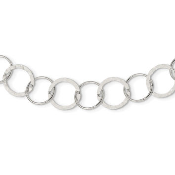 Sterling Silver Circle Link Necklace QG2447