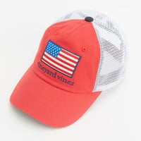 Shop American Flag Patch Trucker Hat at vineyard vines