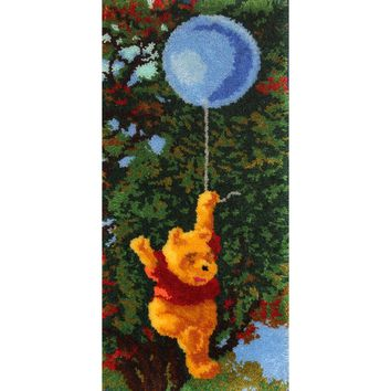 "Pooh And Balloon Latch Hook Kit 17""X36"""