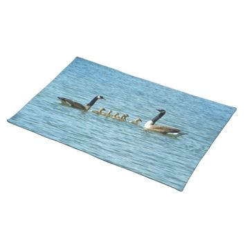 Canada Geese Proud Parents Cloth Placemat