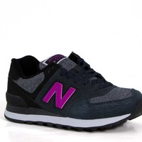 New Balance Shoes for Women in Sweatshirt 574 Gray and Violet WL574WTB