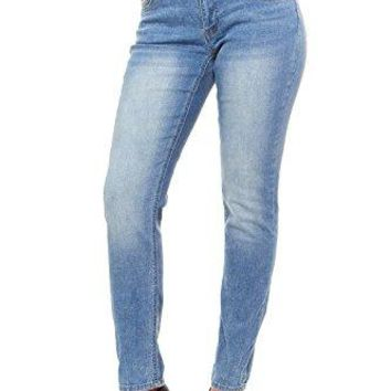 Red Jeans Women's Classic Faded Blue Denim Jeans,Lightblue-166,Size 14