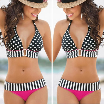 Sexy Womens Swimwear Bikini Set Bandeau Push-Up Bra Padded Swimsuit Beachwear = 1956802948
