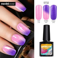 Color UV Gel Nail Primer Long Lasting UV Nail Gel Polish Soak Off Temperature Led Nail Gel Glue