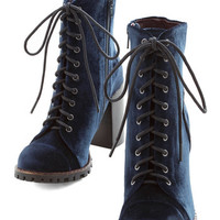 ModCloth Steampunk High Line Praise Boot