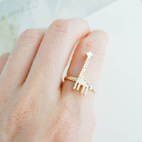 giraffe ring in Gold / Silver