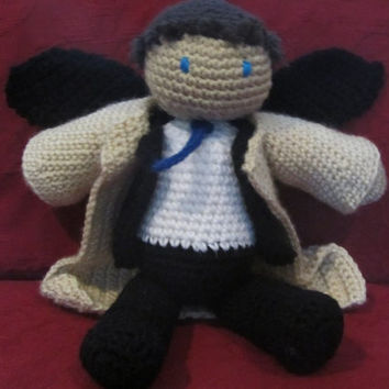 Supernatural's Castiel Crocheted Plushie by willowenigma on Etsy