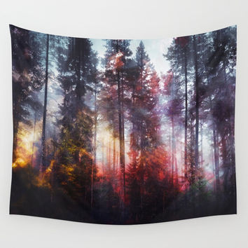 Warm fuzzy feelings Wall Tapestry by happymelvin