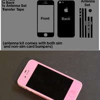 Pink iPhone 5 Vinyl Decal Skin Kit with Antenna Bumper Guards Many Colors