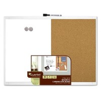 Quartet White Magnetic and Combination Board, 17 x 23 Inches, Frame Color May Vary (21-580653Q)