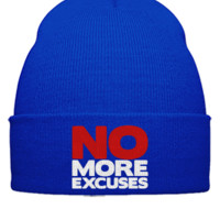 no more excuses embroidery hat - Beanie Cuffed Knit Cap