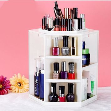 360-Degree Rotating Makeup Organizer,Multi-Function Cosmetic Storage Unit Fits Different Types of Cosmetics and Accessories