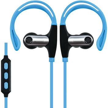 Supersonic Sweatproof Bluetooth Sport Earbuds With Microphone (blue)