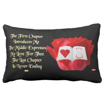 Chapter Just Because Love Greeting by Kat Worth Lumbar Pillow