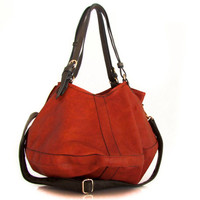 vegan leather bag purse Tanned -  the Leah - 40% summer sale