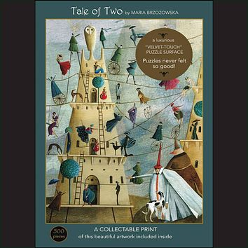 """Tale of Two 500-Piece """"Velvet-Touch"""" Jigsaw Puzzle"""