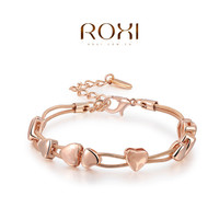 ROXI Best Gift For Girlfriend Genuine Austrian Crystals Sales Rose Gold Plated heart Bangle Bracelet Jewelry Party