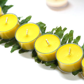 Pear Scented Soy Tea light Candles // Yellow Color  // Sweet Fruit Scent // Pear Candles // 6 Tea Light Candles // discontinued scent