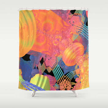 Mardi Gras Shower Curtain by Lyle Hatch