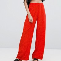 New Look Polka Dot Wide Leg Pants at asos.com