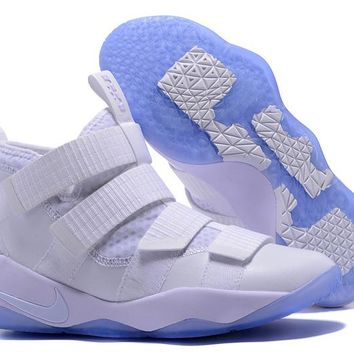 HCXX Nike Zoom Air Men's Lebron Soldier 11 Basketball Shoes White 40-46