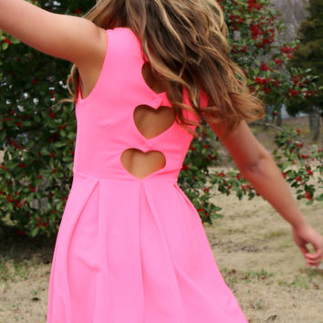 Heart Of The Matter Pink Heart Back Dress