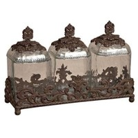 GG Collection 19.5 in L Triple Glass Canisters