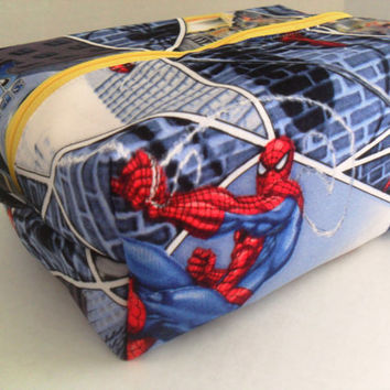 Large Spider Man Boxy Make Up / Toiletry Bag / Zipper Pouch