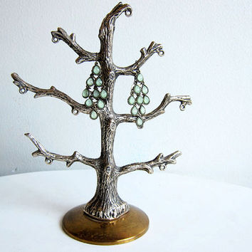 vintage jewelry stand / jewelry holder / faux bois