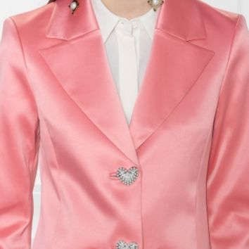 & Other Stories | Heart Button Blazer | Pink