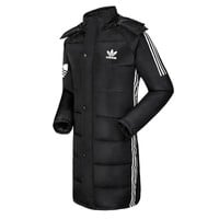 Adidas Women Men Fashion Casual Hooded Cardigan Jacket Coat Windbreaker-9