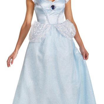 Cinderella Deluxe Adult 4-6 Girls Women's Costume