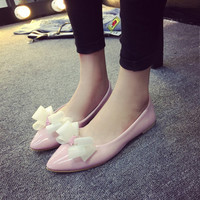 Womens Charming Cute Bow Flats