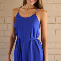 Summer Breeze Dress - Deep Blue