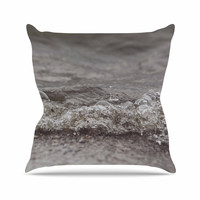 "Angie Turner ""Beach Bubbles"" Blue Coastal Outdoor Throw Pillow"