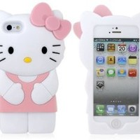 Hello Kitty 3D Silicone Case Cover for New Iphone 5 Xmas gift