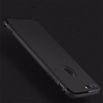 For iPhone 7 Case For iPhone7 Plus Flexible Cover Rubber Ultra Slim Skin Gel Phone Shell Coque For iPhone 6 6s 7 7Plus TPU Etui