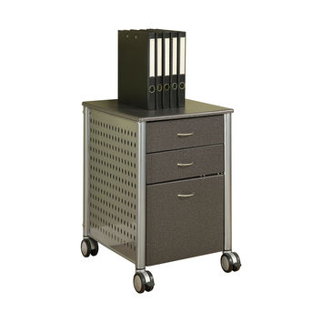 Mobile Filing Cabinet Printer Stand With 2 Office Storage Drawers