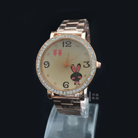 Awesome Stylish Gift Good Price Great Deal New Arrival Designer's Trendy Stainless Steel Band Romantic Cartoons Rabbit Watch [6049409089]
