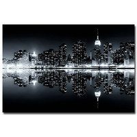 Morning Sunrise New York City Night Citycape Art Silk Poster Print 12x18 20x30 24x36 inches Modern Home Living Room Decor 22