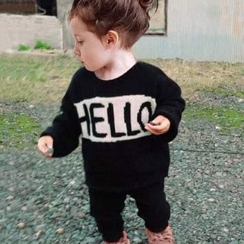 New 2017 Baby Girls clothing Set Brand Cartoon Child long Sleeve suit Autumn Cotton Toddler baby sets kids Boys Girls Clothes