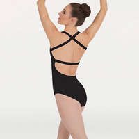 Body Wrappers Women's Cross-Back Tank Leotard