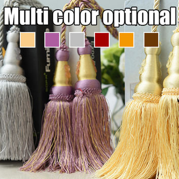 Multi Color Optional 200cm Decorative Curtain tassels High Quality Tieback for Curtains