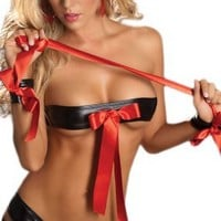 My Associates Store - Erotic Lingerie - Black & Red 3 Piece Set