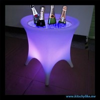 Kitschy Like Me -  22 Inch x 22 Inch Rechargeable LED Ice Bucket with Color Change Remote - Furniture - Home and Garden - Unusual items, things we like, and simple and elegant solutions for modern living.  Are you Kitschy Like Me?