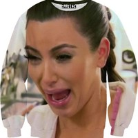 Kim K Crying Sweater